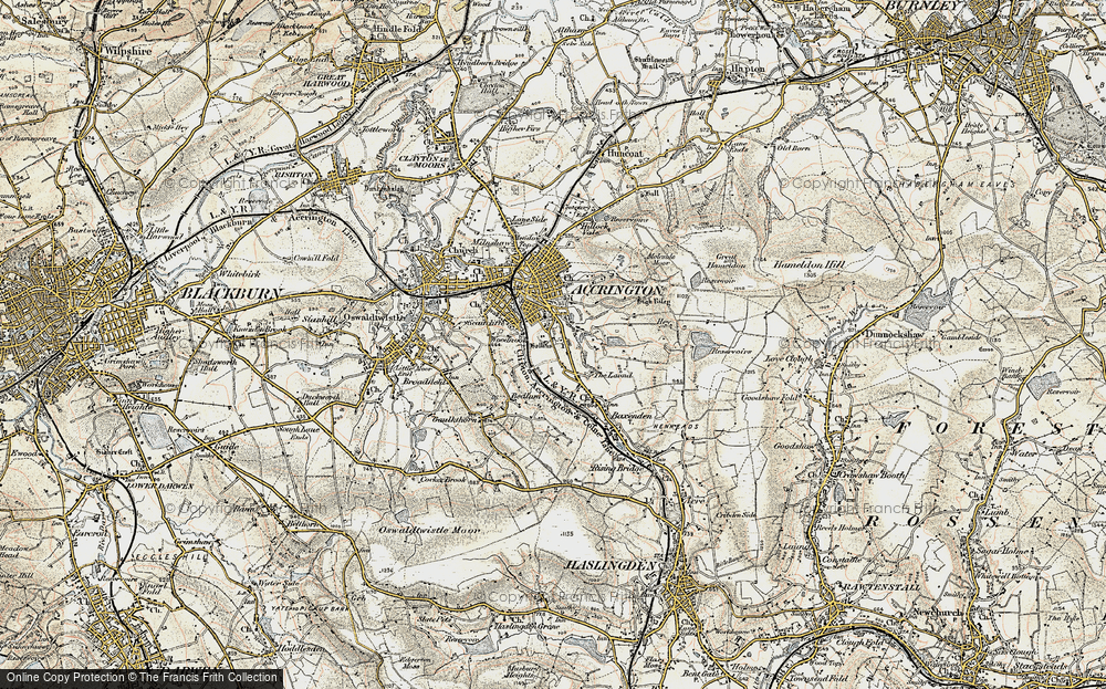 Old Map of Woodnook, 1903 in 1903