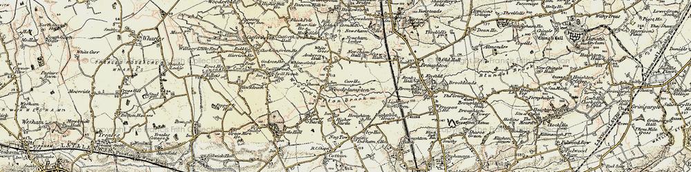 Old map of Woodplumpton in 1903-1904