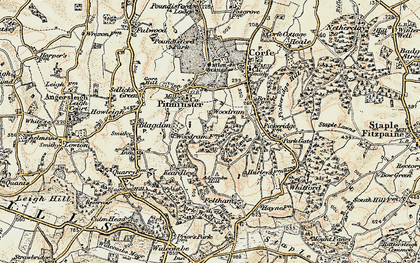 Old map of Adcombe Hill in 1898-1900