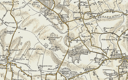 Old map of Woodrising Wood in 1901-1902