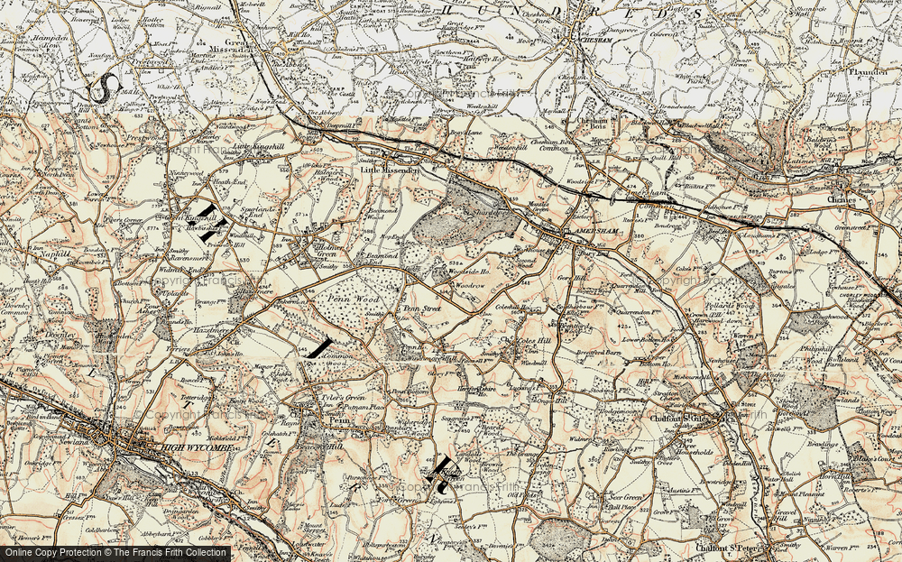 Old Map of Woodrow, 1897-1898 in 1897-1898