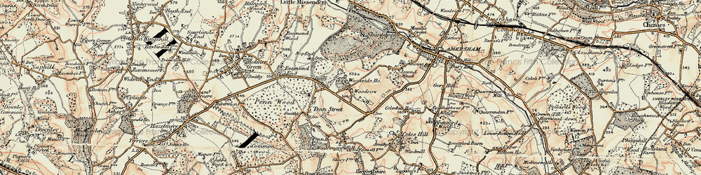 Old map of Woodrow in 1897-1898