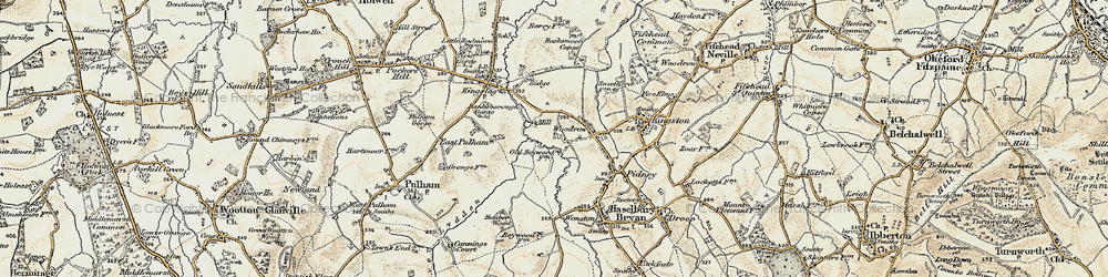 Old map of Woodrow in 1897-1909