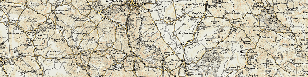Old map of Woodrow in 1899-1902