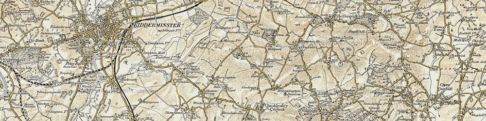 Old map of Woodrow in 1901-1902
