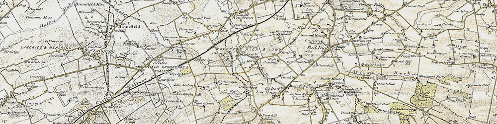 Old map of Woodrow in 1901-1904