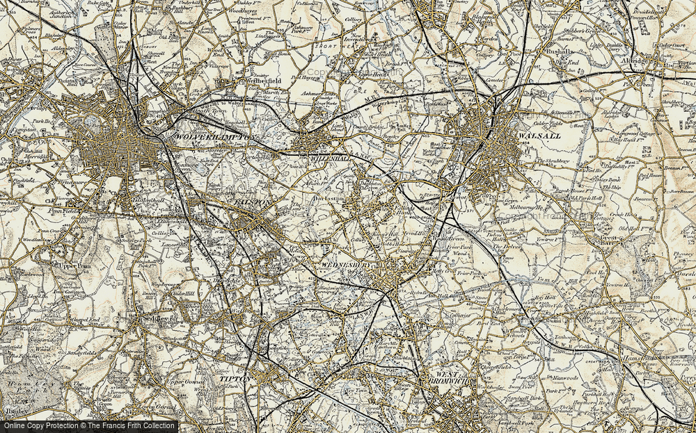 Old Map of Woods Bank, 1902 in 1902