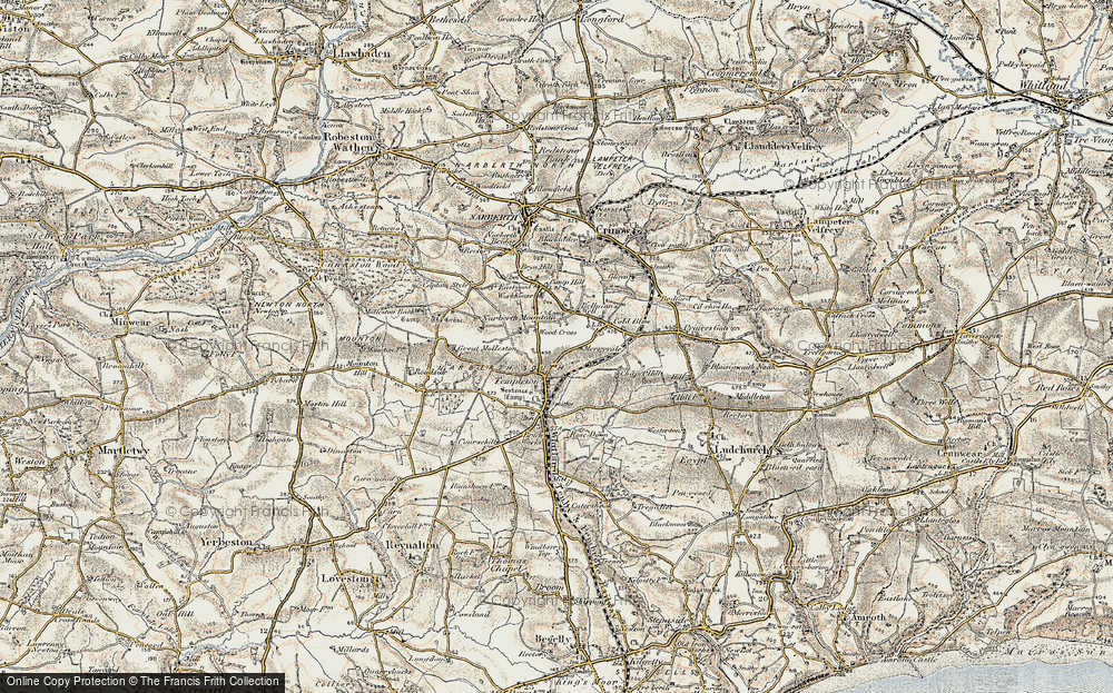 Old Map of Woods Cross, 1901 in 1901