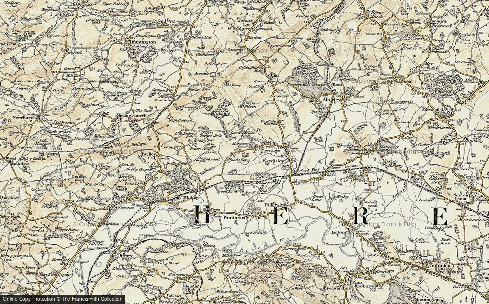 Old Map of Woods Eaves, 1900-1901 in 1900-1901