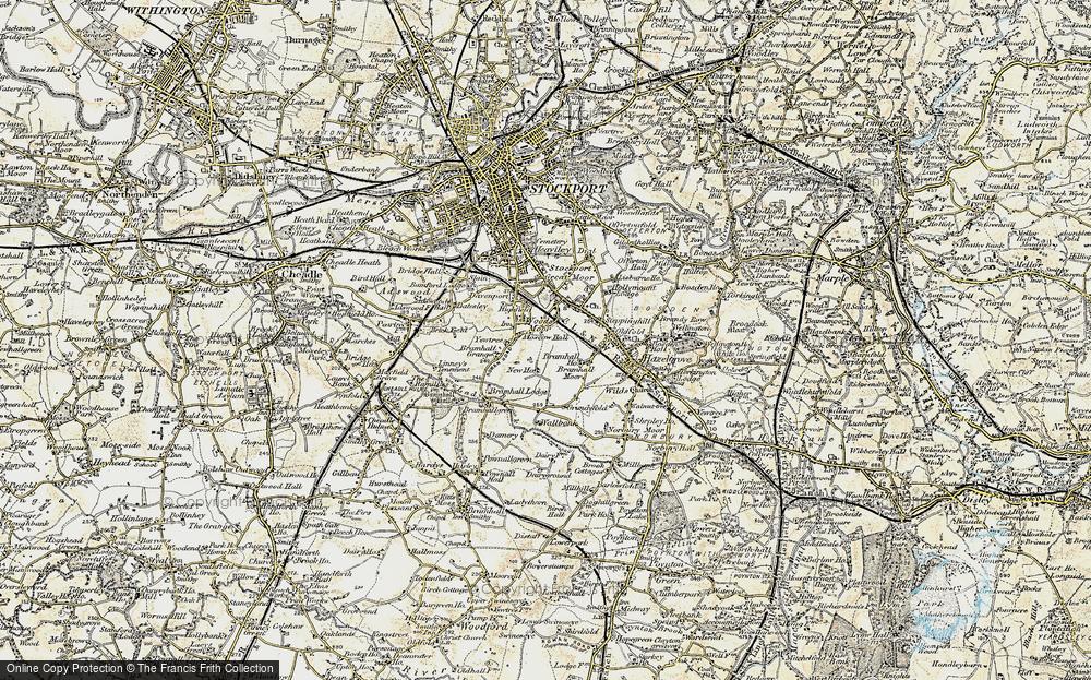 Old Map of Woods Moor, 1903 in 1903