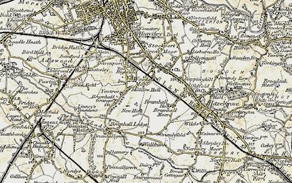 Old map of Woods Moor in 1903