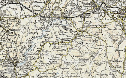 Old map of Woodseats in 1903