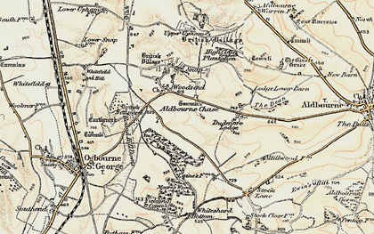 Old map of Aldbourne Chase in 1897-1899