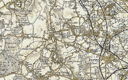 Old map of Woodsetton in 1902