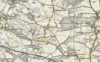 Old map of Woodsetts in 1902-1903