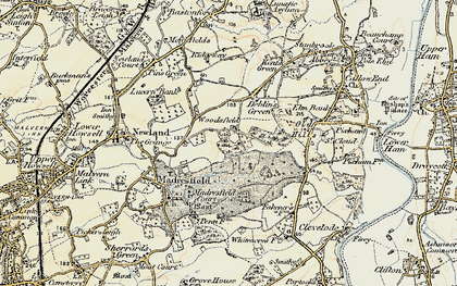 Old map of Woodsfield in 1899-1901