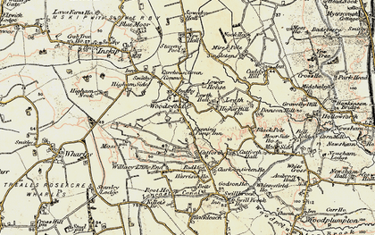 Old map of Woodsfold in 1903-1904