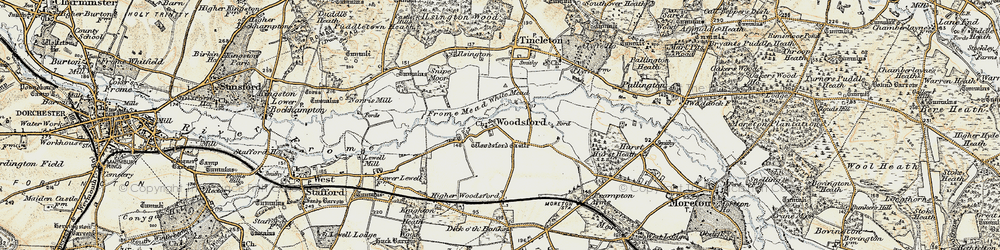 Old map of White Mead in 1899-1909