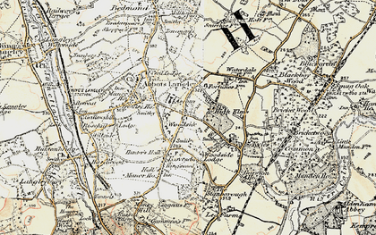 Old map of Woodside in 1897-1898