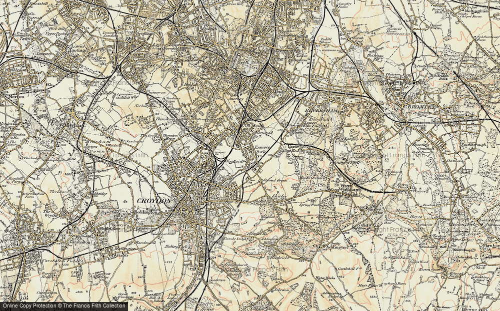 Old Map of Woodside, 1897-1902 in 1897-1902