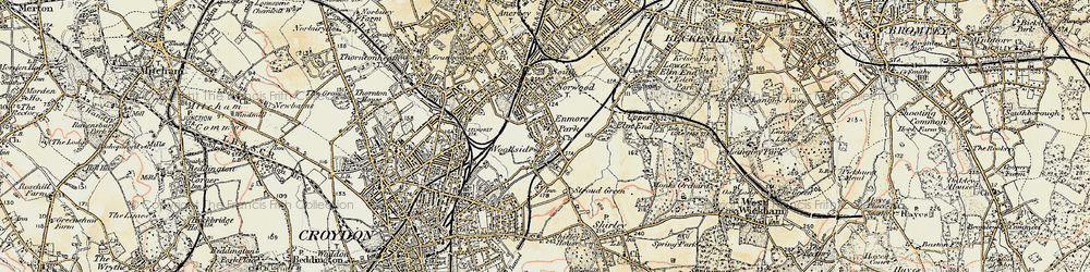 Old map of Woodside in 1897-1902