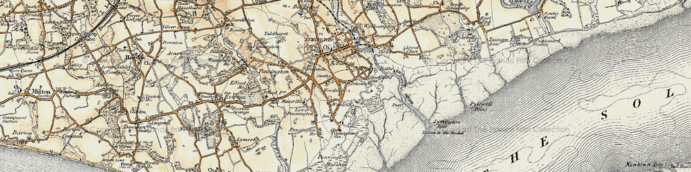 Old map of Woodside in 1897-1909
