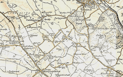 Old map of Woodside in 1898-1899