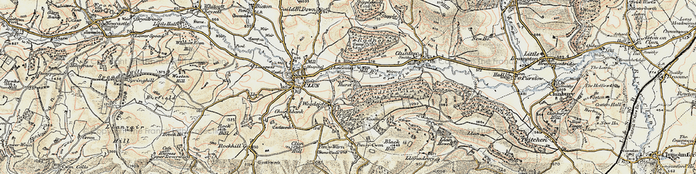 Old map of Woodside in 1901-1903