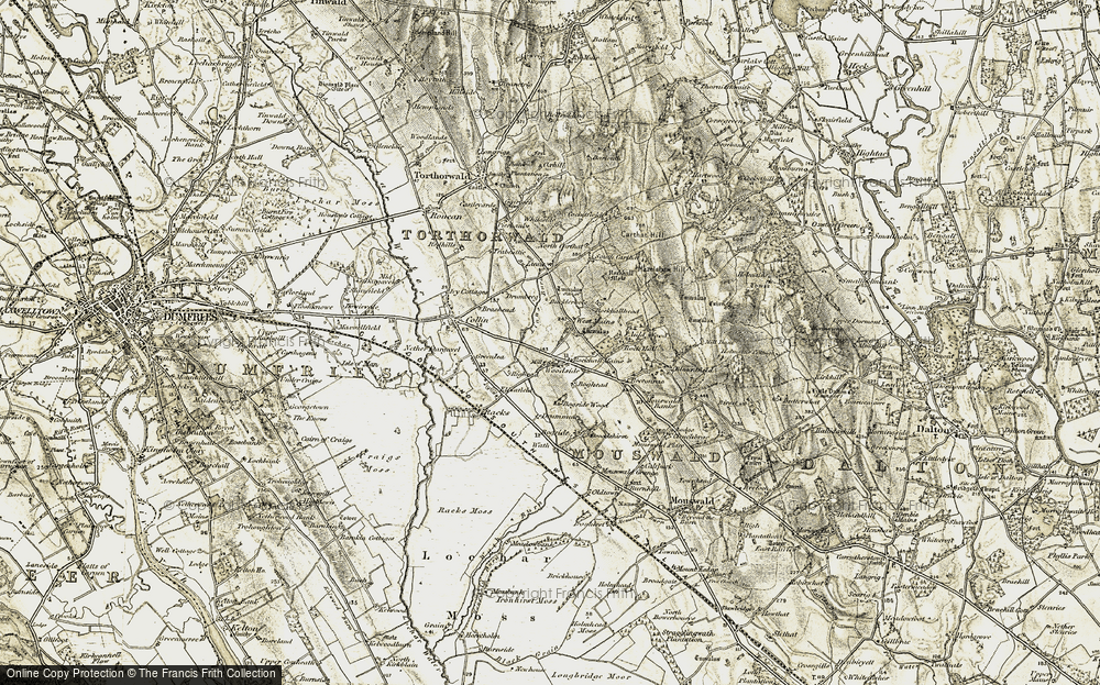 Old Map of Historic Map covering Linns in 1901-1905