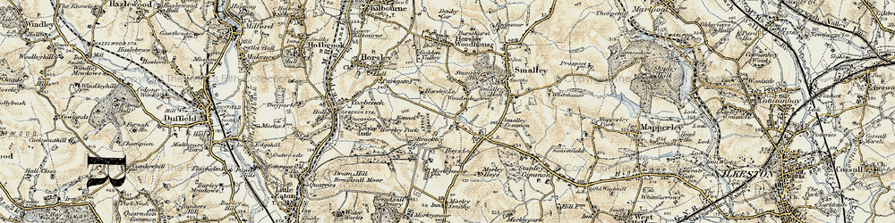 Old map of Woodside in 1902-1903
