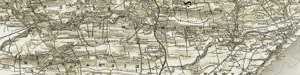 Old map of Woodside in 1903-1908