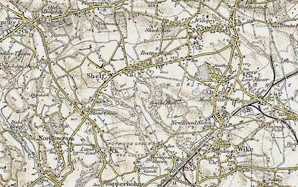 Old map of Woodside in 1903