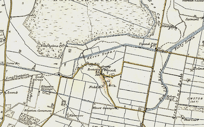 Old map of Wroot Grange in 1903