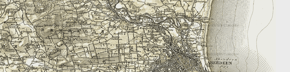 Old map of Woodside in 1909