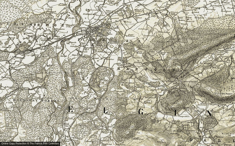 Old Map of Woodside, 1910-1911 in 1910-1911