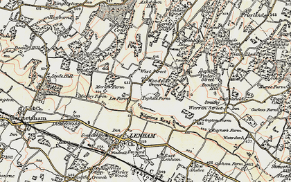 Old map of Woodside Green in 1897-1898