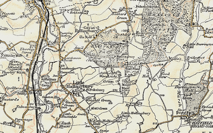 Old map of Woodside Green in 1898-1899