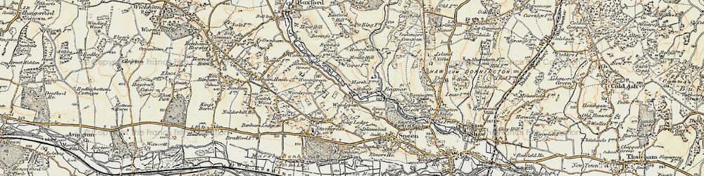 Old map of Woodspeen in 1897-1900