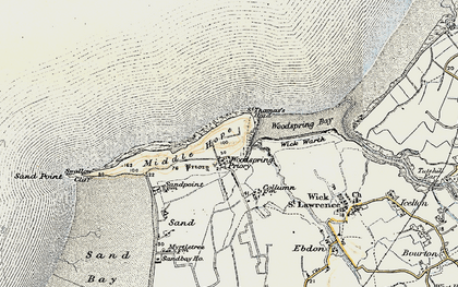 Old map of Wick Warth in 1899
