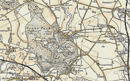 Old map of Woodstock in 1898-1899