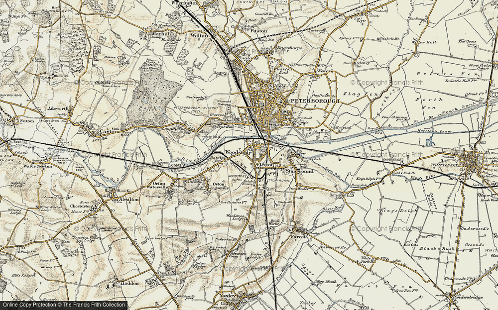 Old Map of Woodston, 1901-1902 in 1901-1902