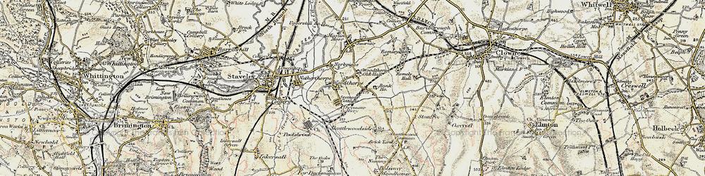 Old map of Woodthorpe in 1902-1903