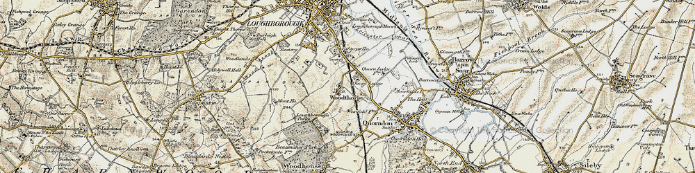 Old map of Whatoff Lodge in 1902-1903