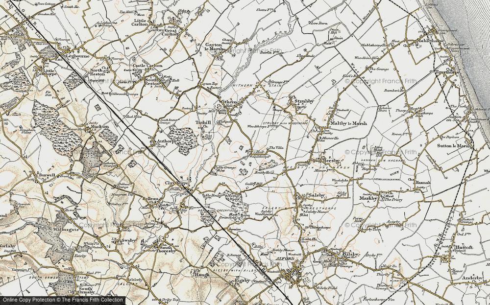 Old Map of Woodthorpe, 1902-1903 in 1902-1903
