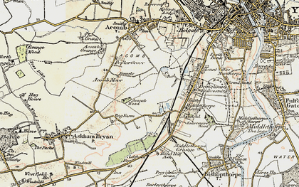 Old map of Askham Bogs in 1903