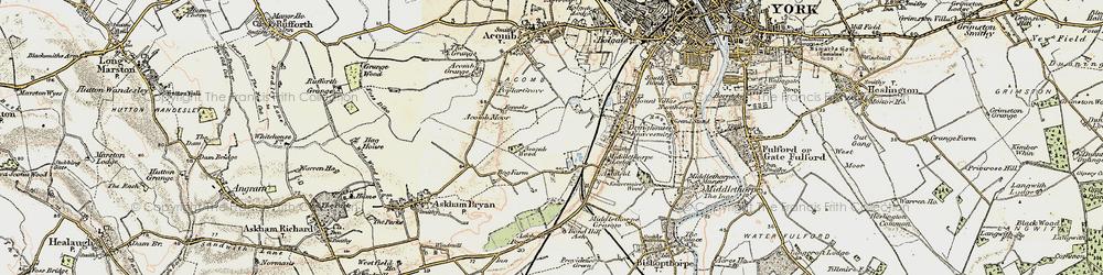 Old map of Woodthorpe in 1903