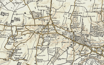 Old map of Woodton Lodge in 1901-1902