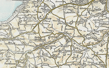Old map of Woodtown in 1900