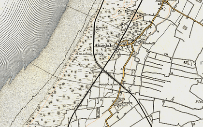 Old map of Woodvale in 1902-1903