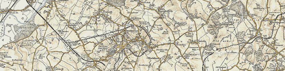 Old map of Woodville in 1902-1903